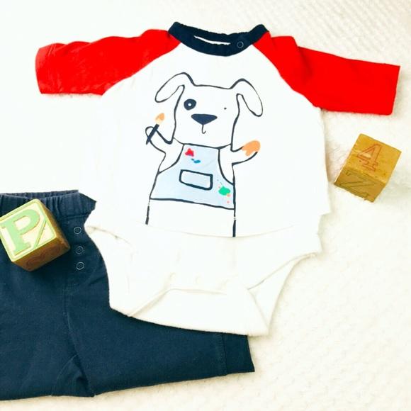 GAP Other - Baby Gap puppy dog artist one piece bodysuit 3-6mo